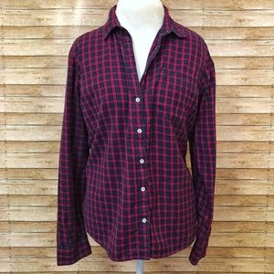 Plaid button down shirt